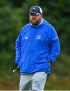 12 September 2021; Leinster head coach Andy Skehan before the PwC U18 Men's Interprovincial Championship Round 2 match between Leinster and Munster at MU Barnhall in Leixlip, Kildare. Photo by Brendan Moran/Sportsfile
