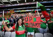 11 September 2021; Mayo supporters prior to the GAA Football All-Ireland Senior Championship Final match between Mayo and Tyrone at Croke Park in Dublin. Photo by David Fitzgerald/Sportsfile