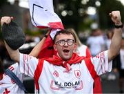 11 September 2021; Tyrone supporters arrive prior to the GAA Football All-Ireland Senior Championship Final match between Mayo and Tyrone at Croke Park in Dublin. Photo by David Fitzgerald/Sportsfile