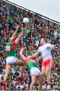 11 September 2021; Supporters during the GAA Football All-Ireland Senior Championship Final match between Mayo and Tyrone at Croke Park in Dublin. Photo by Piaras Ó Mídheach/Sportsfile