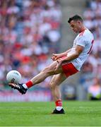 11 September 2021; Darren McCurry of Tyrone takes a free during the GAA Football All-Ireland Senior Championship Final match between Mayo and Tyrone at Croke Park in Dublin. Photo by Piaras Ó Mídheach/Sportsfile