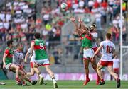 11 September 2021; Aidan O'Shea of Mayo in action against Ronan McNamee of Tyrone during the GAA Football All-Ireland Senior Championship Final match between Mayo and Tyrone at Croke Park in Dublin. Photo by Piaras Ó Mídheach/Sportsfile
