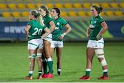 13 September 2021; Ireland players after the Rugby World Cup 2022 Europe Qualifying Tournament match between Spain and Ireland at Stadio Sergio Lanfranchi in Parma, Italy. Photo by Roberto Bregani/Sportsfile