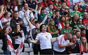 11 September 2021; Tyrone supporters during the GAA Football All-Ireland Senior Championship Final match between Mayo and Tyrone at Croke Park in Dublin. Photo by Piaras Ó Mídheach/Sportsfile