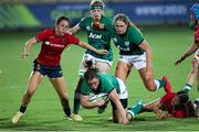 13 September 2021; Laura Feely of Ireland in action during the Rugby World Cup 2022 Europe Qualifying Tournament match between Spain and Ireland at Stadio Sergio Lanfranchi in Parma, Italy. Photo by Roberto Bregani/Sportsfile