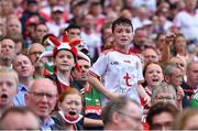 11 September 2021; A Tyrone supporter during the GAA Football All-Ireland Senior Championship Final match between Mayo and Tyrone at Croke Park in Dublin. Photo by Piaras Ó Mídheach/Sportsfile
