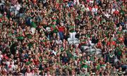 11 September 2021; Mayo supporters during the GAA Football All-Ireland Senior Championship Final match between Mayo and Tyrone at Croke Park in Dublin. Photo by Brendan Moran/Sportsfile