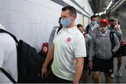 11 September 2021; Tyrone strength and conditioning coach Peter Donnelly arrives before the GAA Football All-Ireland Senior Championship Final match between Mayo and Tyrone at Croke Park in Dublin. Photo by Stephen McCarthy/Sportsfile