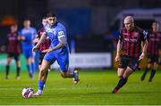 13 September 2021; Kosovar Sadiki of Finn Harps in action against Georgie Kelly of Bohemians during the SSE Airtricity League Premier Division match between Finn Harps and Bohemians at Finn Park in Ballybofey, Donegal. Photo by Ramsey Cardy/Sportsfile