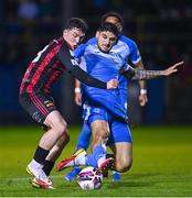 13 September 2021; Ali Coote of Bohemians in action against Kosovar Sadiki of Finn Harps during the SSE Airtricity League Premier Division match between Finn Harps and Bohemians at Finn Park in Ballybofey, Donegal. Photo by Ramsey Cardy/Sportsfile