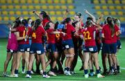 13 September 2021; Spain players celebrate after the Rugby World Cup 2022 Europe Qualifying Tournament match between Spain and Ireland at Stadio Sergio Lanfranchi in Parma, Italy. Photo by Roberto Bregani/Sportsfile