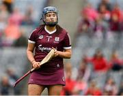 12 September 2021; Galway goalkeeper Sarah Healy during the All-Ireland Senior Camogie Championship Final match between Cork and Galway at Croke Park in Dublin. Photo by Piaras Ó Mídheach/Sportsfile