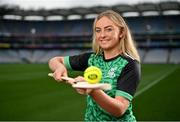 15 September 2021; Today saw the launch of the 2021 M. Donnelly GAA All-Ireland Poc Fada Finals by Uachtarán Chumann Lúthchleas Gael, Larry McCarthy, and Uachtarán an Cumann Camógaíochta Hilda Breslin. The All-Ireland Poc Fada finals in Hurling and Camogie will be held on the Cooley Mountains on Saturday 25th September. Pictured at the launch in Croke Park, Dublin, is Antrim Camogie player Roisin McCormack. Photo by Seb Daly/Sportsfile