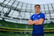 15 September 2021; Garry Ringrose of Leinster poses for a portrait during the United Rugby Championship launch at the Aviva Stadium in Dublin. Photo by Brendan Moran/Sportsfile
