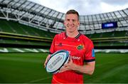 15 September 2021; Chris Farrell of Munster poses for a portrait during the United Rugby Championship launch at the Aviva Stadium in Dublin. Photo by Brendan Moran/Sportsfile