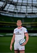 15 September 2021; Kieran Treadwell of Ulster poses for a portrait during the United Rugby Championship launch at the Aviva Stadium in Dublin. Photo by Brendan Moran/Sportsfile