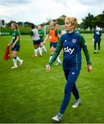 15 September 2021; Manager Vera Pauw during a Republic of Ireland training session at the FAI National Training Centre in Abbotstown, Dublin. Photo by Stephen McCarthy/Sportsfile