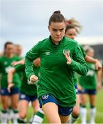 15 September 2021; Clare Shine during a Republic of Ireland training session at the FAI National Training Centre in Abbotstown, Dublin. Photo by Stephen McCarthy/Sportsfile