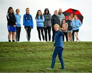 15 September 2021; Manager Vera Pauw speaks to players, parents and members of Rosemount Mulvey FC during a Republic of Ireland training session at the FAI National Training Centre in Abbotstown, Dublin. Photo by Stephen McCarthy/Sportsfile