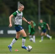 15 September 2021; Louise Quinn during a Republic of Ireland training session at the FAI National Training Centre in Abbotstown, Dublin. Photo by Stephen McCarthy/Sportsfile