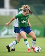 15 September 2021; Katie McCabe is tackled by Claire Walsh during a Republic of Ireland training session at the FAI National Training Centre in Abbotstown, Dublin. Photo by Stephen McCarthy/Sportsfile