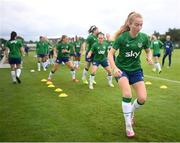 15 September 2021; Aoibheann Clancy during a Republic of Ireland training session at the FAI National Training Centre in Abbotstown, Dublin. Photo by Stephen McCarthy/Sportsfile