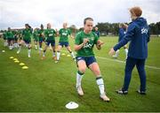 15 September 2021; Ciara Grant during a Republic of Ireland training session at the FAI National Training Centre in Abbotstown, Dublin. Photo by Stephen McCarthy/Sportsfile