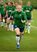 15 September 2021; Amber Barrett during a Republic of Ireland training session at the FAI National Training Centre in Abbotstown, Dublin. Photo by Stephen McCarthy/Sportsfile