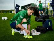 15 September 2021; Lucy Quinn during a Republic of Ireland training session at the FAI National Training Centre in Abbotstown, Dublin. Photo by Stephen McCarthy/Sportsfile