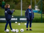 15 September 2021; Team doctor Sinead Fitzpatrick during a Republic of Ireland training session at the FAI National Training Centre in Abbotstown, Dublin. Photo by Stephen McCarthy/Sportsfile