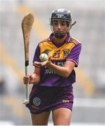12 September 2021; Megan Cullen of Wexford during the All-Ireland Premier Junior Camogie Championship Final match between Armagh and Wexford at Croke Park in Dublin. Photo by Ben McShane/Sportsfile