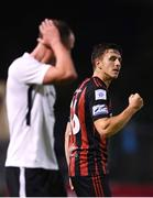 17 September 2021; Keith Buckley of Bohemians celebrates after scoring his side's first goal during the extra.ie FAI Cup Quarter-Final match between Bohemians and Maynooth University Town at Dalymount Park in Dublin. Photo by Stephen McCarthy/Sportsfile