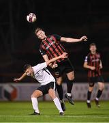 17 September 2021; Ciarán Kelly of Bohemians in action against Jack O'Connor of Maynooth University Town during the extra.ie FAI Cup Quarter-Final match between Bohemians and Maynooth University Town at Dalymount Park in Dublin. Photo by Stephen McCarthy/Sportsfile
