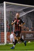 17 September 2021; Keith Ward of Bohemians celebrates after scoring his side's third goal during the extra.ie FAI Cup Quarter-Final match between Bohemians and Maynooth University Town at Dalymount Park in Dublin. Photo by Stephen McCarthy/Sportsfile