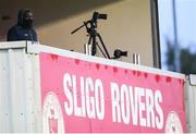 18 September 2021; Former Sligo Rovers player and LOI TV commentator Joseph N'Do before the SSE Airtricity League Premier Division match between Sligo Rovers and Shamrock Rovers at The Showgrounds in Sligo. Photo by Stephen McCarthy/Sportsfile