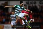 18 September 2021; Richie Towell of Shamrock Rovers during the SSE Airtricity League Premier Division match between Sligo Rovers and Shamrock Rovers at The Showgrounds in Sligo. Photo by Stephen McCarthy/Sportsfile