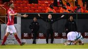 18 September 2021; Sligo Rovers manager Liam Buckley reacts during the SSE Airtricity League Premier Division match between Sligo Rovers and Shamrock Rovers at The Showgrounds in Sligo. Photo by Stephen McCarthy/Sportsfile