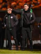 18 September 2021; Shamrock Rovers manager Stephen Bradley during the SSE Airtricity League Premier Division match between Sligo Rovers and Shamrock Rovers at The Showgrounds in Sligo. Photo by Stephen McCarthy/Sportsfile