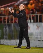 18 September 2021; Sligo Rovers manager Liam Buckley during the SSE Airtricity League Premier Division match between Sligo Rovers and Shamrock Rovers at The Showgrounds in Sligo. Photo by Stephen McCarthy/Sportsfile