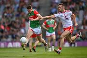 11 September 2021; Matthew Ruane of Mayo in action against Brian Kennedy of Tyrone during the GAA Football All-Ireland Senior Championship Final match between Mayo and Tyrone at Croke Park in Dublin. Photo by Ramsey Cardy/Sportsfile