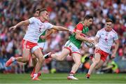 11 September 2021; Lee Keegan of Mayo is tackled by Conn Kilpatrick of Tyrone during the GAA Football All-Ireland Senior Championship Final match between Mayo and Tyrone at Croke Park in Dublin. Photo by Ramsey Cardy/Sportsfile