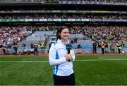 11 September 2021; Golfer Leona Maguire during the GAA Football All-Ireland Senior Championship Final match between Mayo and Tyrone at Croke Park in Dublin. Photo by Ramsey Cardy/Sportsfile