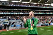 11 September 2021; Tokyo Paralympic Gold medallist Ellen Keane during the GAA Football All-Ireland Senior Championship Final match between Mayo and Tyrone at Croke Park in Dublin. Photo by Ramsey Cardy/Sportsfile