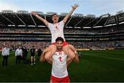 11 September 2021; Conor Meyler, above, and Tiernan McCann of Tyrone after the GAA Football All-Ireland Senior Championship Final match between Mayo and Tyrone at Croke Park in Dublin. Photo by Ramsey Cardy/Sportsfile