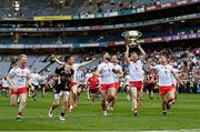 11 September 2021; Frank Burns of Tyrone with the Sam Maguire cup after the GAA Football All-Ireland Senior Championship Final match between Mayo and Tyrone at Croke Park in Dublin. Photo by Ramsey Cardy/Sportsfile