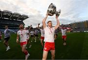 11 September 2021; Cathal McShane of Tyrone with the Sam Maguire cup after the GAA Football All-Ireland Senior Championship Final match between Mayo and Tyrone at Croke Park in Dublin. Photo by Ramsey Cardy/Sportsfile