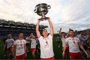 11 September 2021; Conn Kilpatrick of Tyrone with the Sam Maguire cup after the GAA Football All-Ireland Senior Championship Final match between Mayo and Tyrone at Croke Park in Dublin. Photo by Ramsey Cardy/Sportsfile