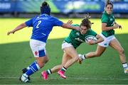 19 September 2021; Beibhinn Parsons of Ireland in action against Melissa Bettoni of Italy during the Rugby World Cup 2022 Europe Qualifying Tournament match between Italy and Ireland at Stadio Sergio Lanfranchi in Parma, Italy. Photo by Roberto Bregani/Sportsfile