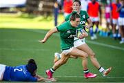19 September 2021; Beibhinn Parsons of Ireland gets away from Melissa Bettoni of Italy during the Rugby World Cup 2022 Europe Qualifying Tournament match between Italy and Ireland at Stadio Sergio Lanfranchi in Parma, Italy. Photo by Roberto Bregani/Sportsfile
