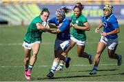19 September 2021; Beibhinn Parsons of Ireland in action against Michela Sillari of Italy during the Rugby World Cup 2022 Europe Qualifying Tournament match between Italy and Ireland at Stadio Sergio Lanfranchi in Parma, Italy. Photo by Roberto Bregani/Sportsfile
